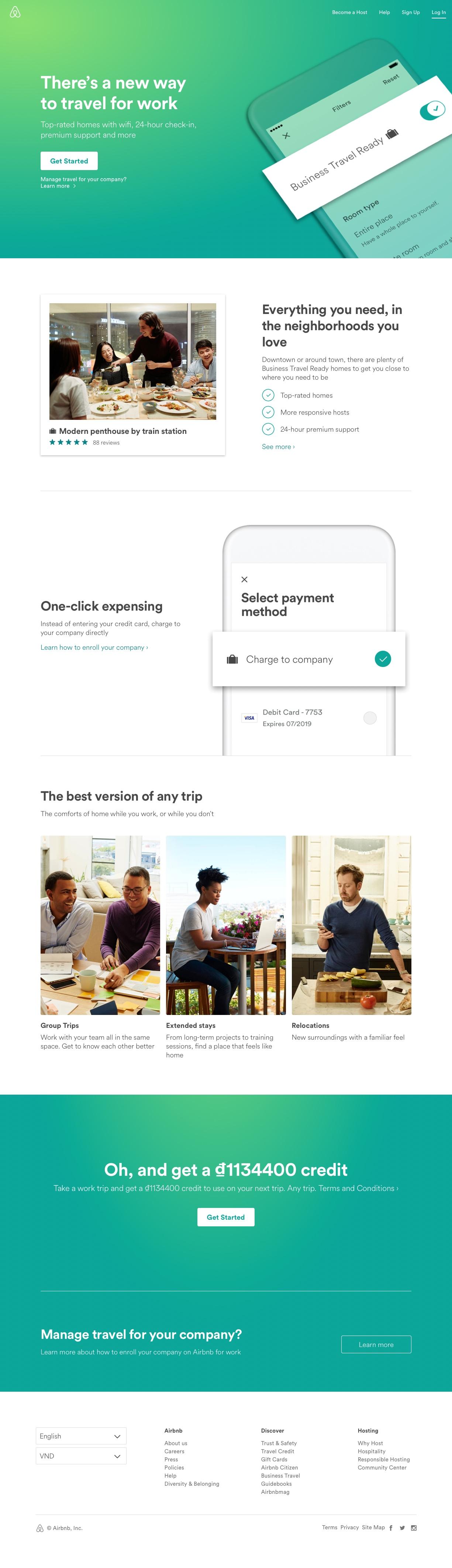 Airbnb landing page design inspiration - Lapa Ninja