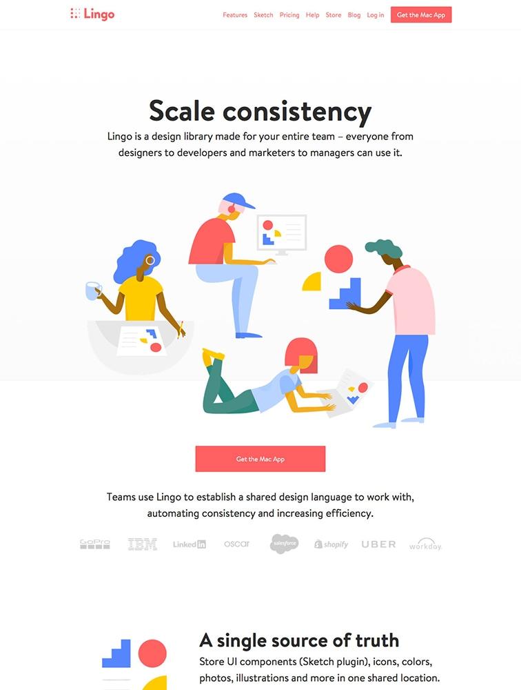 The Best 3 Lingo Landing Page Design Inspiration - Lapa Ninja