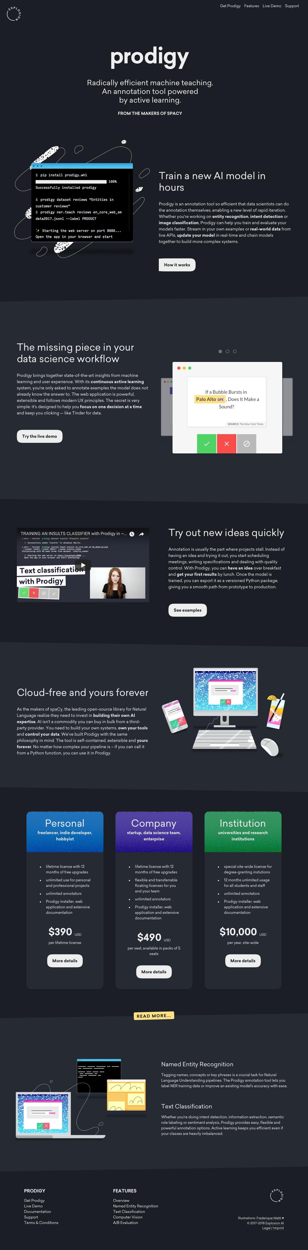 Prodigy landing page design inspiration - Lapa Ninja