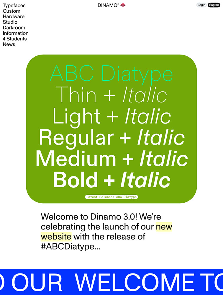 Dinamo Landing Page Example
