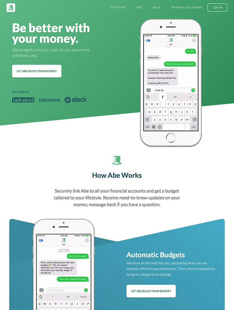 The Best 15 Bot Landing Page Design Inspiration - Lapa Ninja