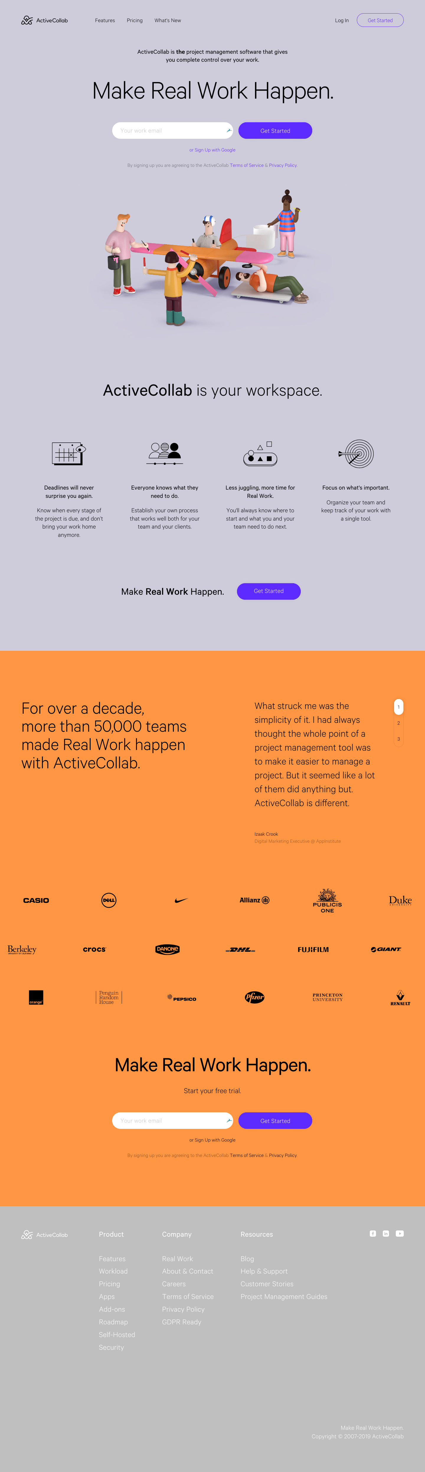 Activecollab activecollab landing page design inspiration - lapa ninja