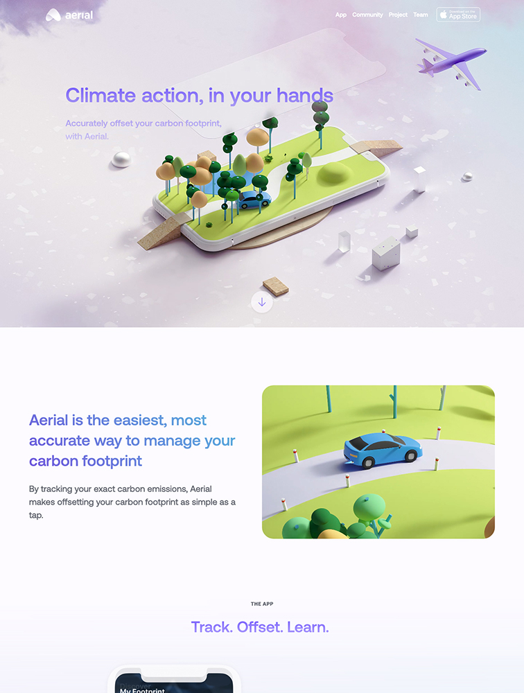Aerial Landing Page Example