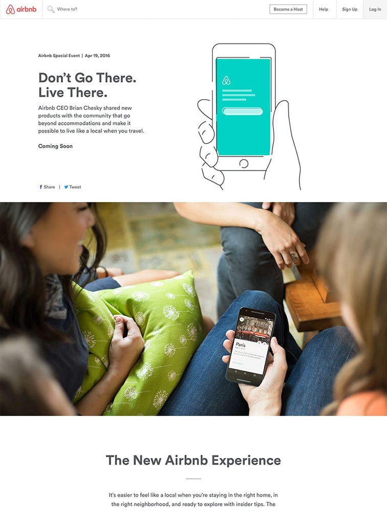 The Best 4 Airbnb Landing Page Design Inspiration - Lapa Ninja
