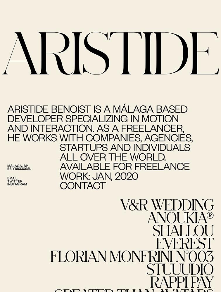 Aristide Benoist Landing Page Example