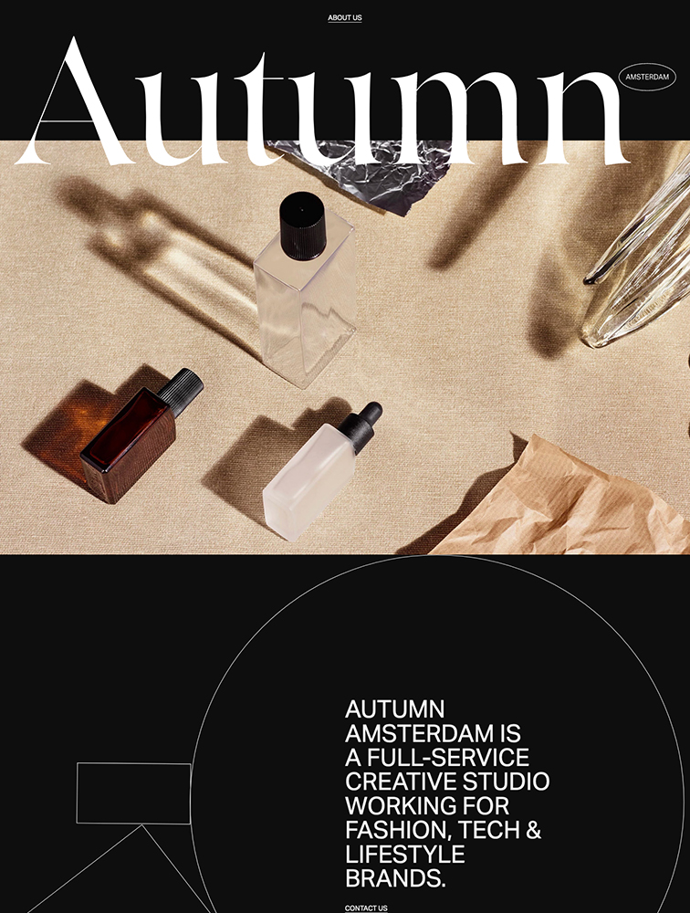 Autumn Amsterdam Landing Page Example