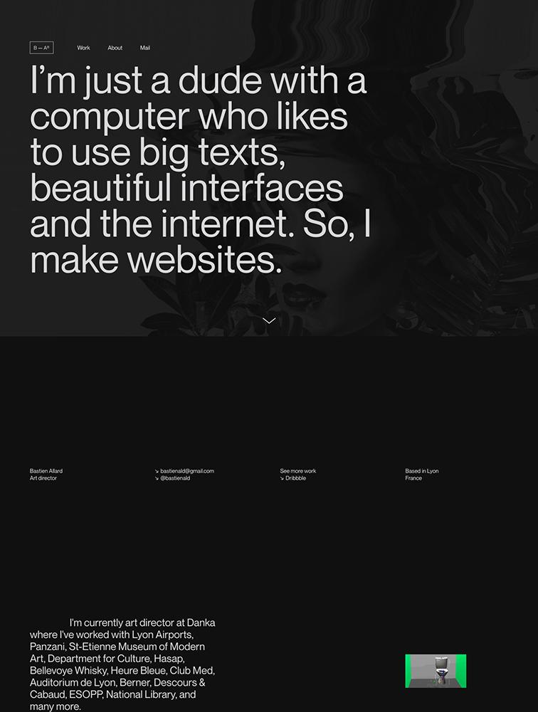 Bastien Allard Landing Page Example