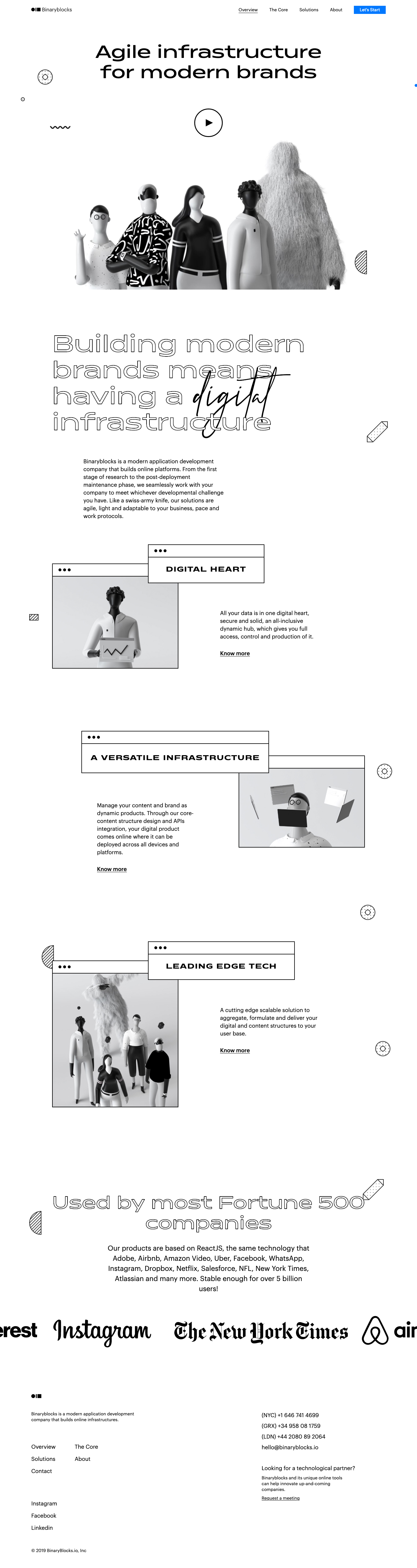Binaryblocks Landing Page Example: Agile infrastructure for modern brands