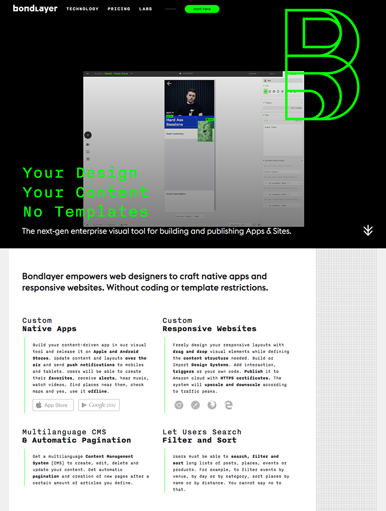 Bondlayer landing page design inspiration - Lapa Ninja