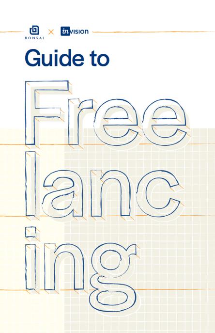Download free ebook Bonsai x InVision Guide to Freelancing - Lapa Ninja