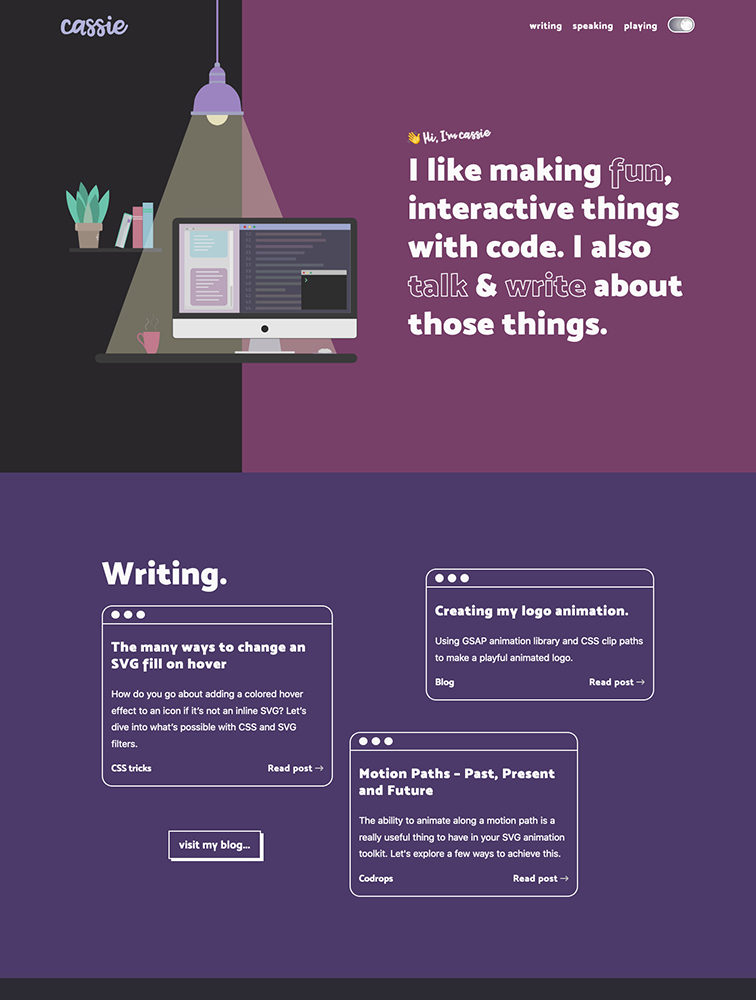 Cassie Evans Landing Page Example