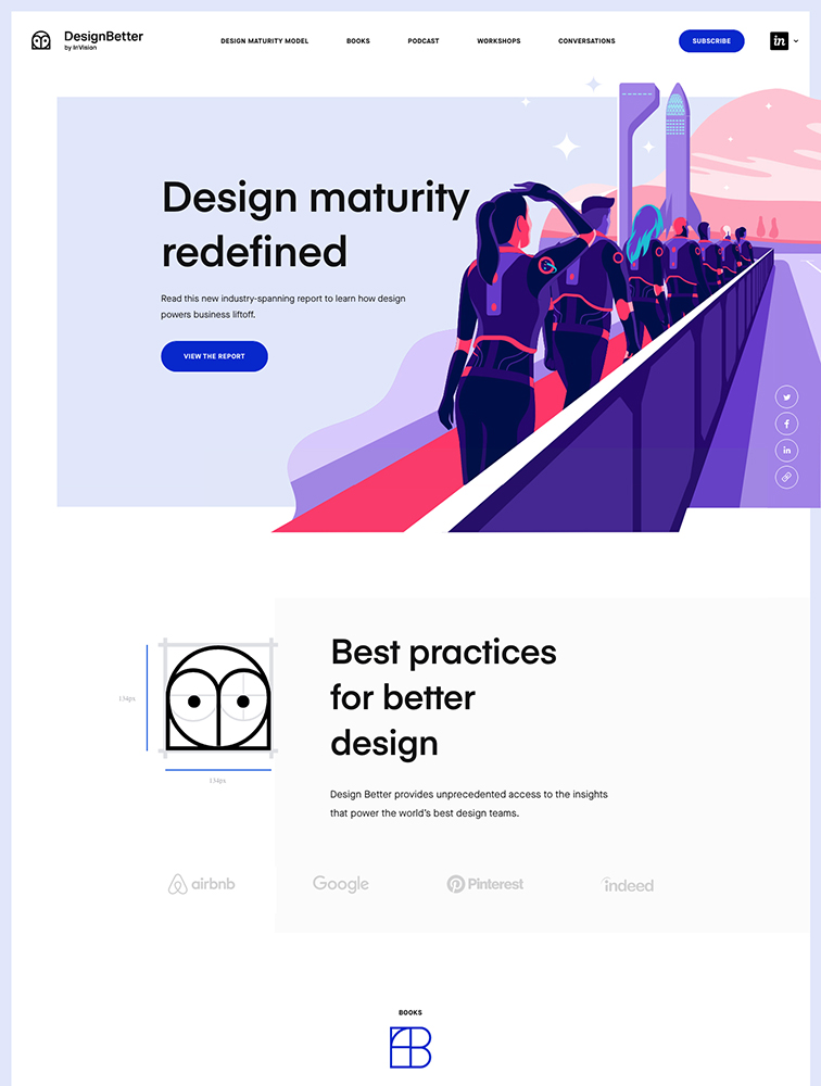 Design Better Landing Page Example