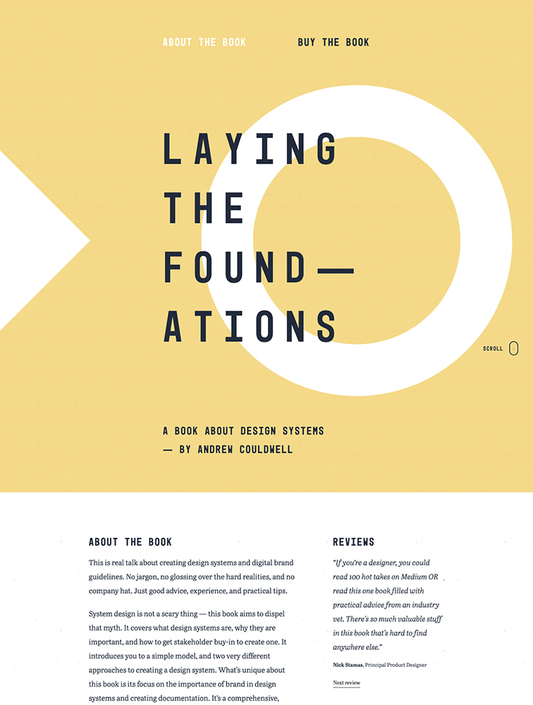 Laying the Foundations Landing Page Example