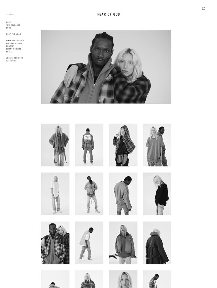 Fear of God Landing Page Example