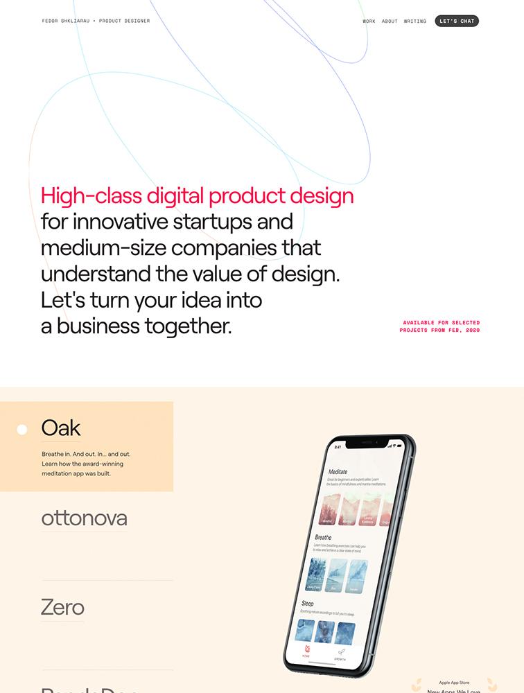 Fedor Shkliarau Landing Page Example