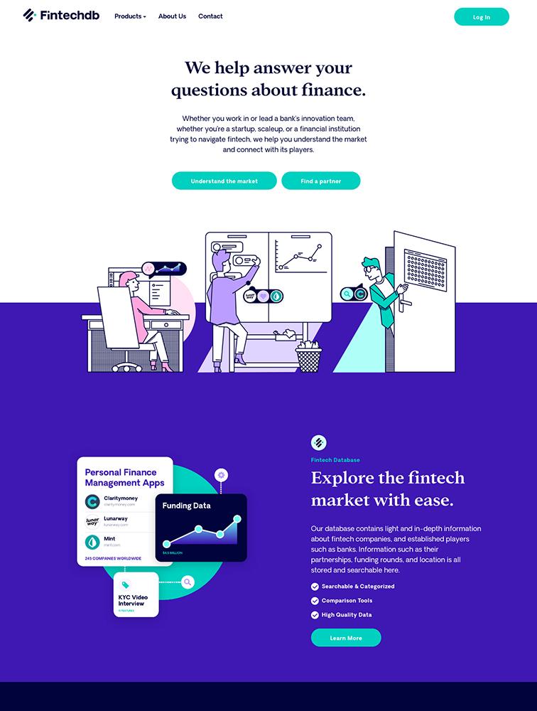 The Best 63 Finance Landing Page Design Inspiration - Lapa Ninja
