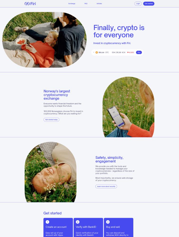 Firi Landing Page Example