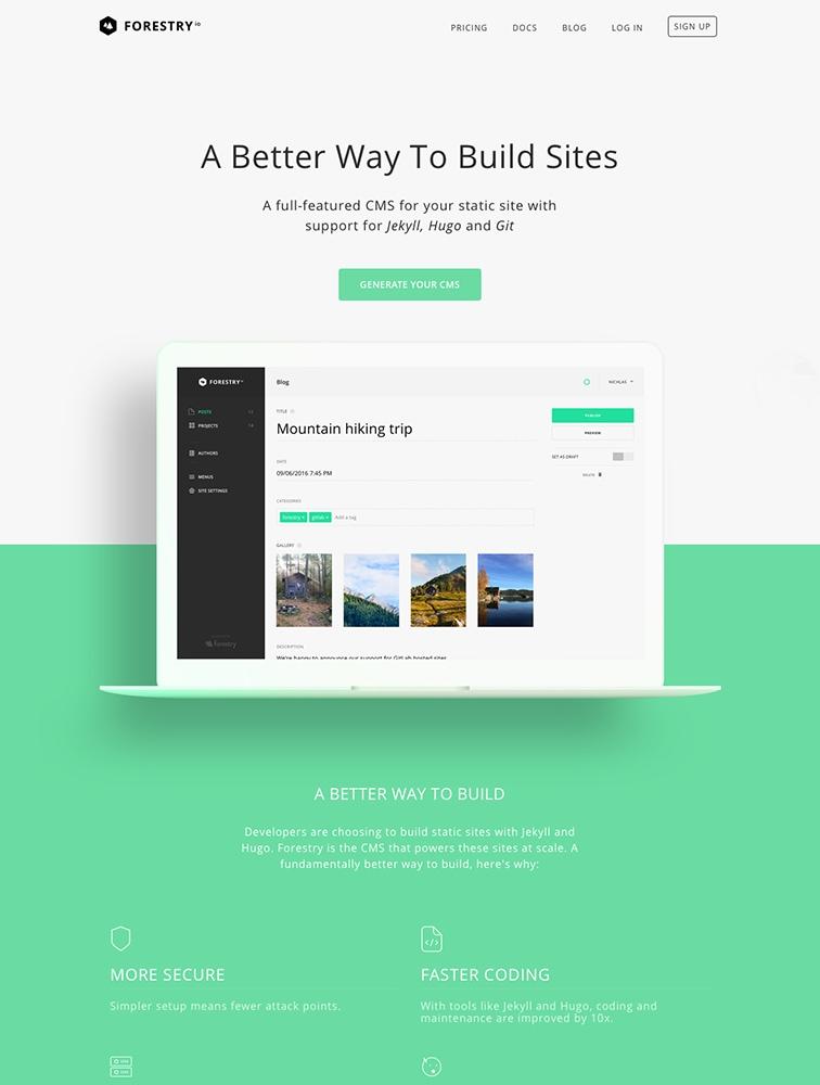 The Best 29 CMS Landing Page Design Inspiration - Lapa Ninja