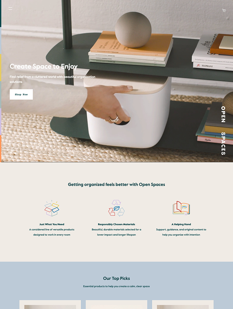 Open Spaces Landing Page Example