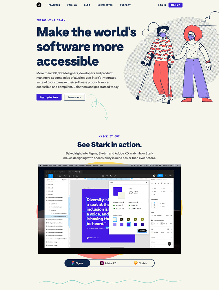 Stark Landing Page Example