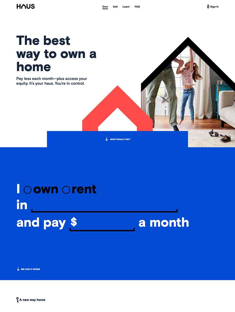 Haus Landing Page Example