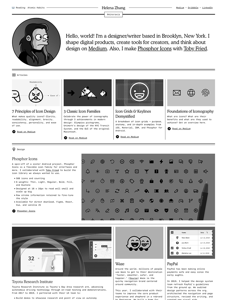 Helena Zhang Landing Page Example