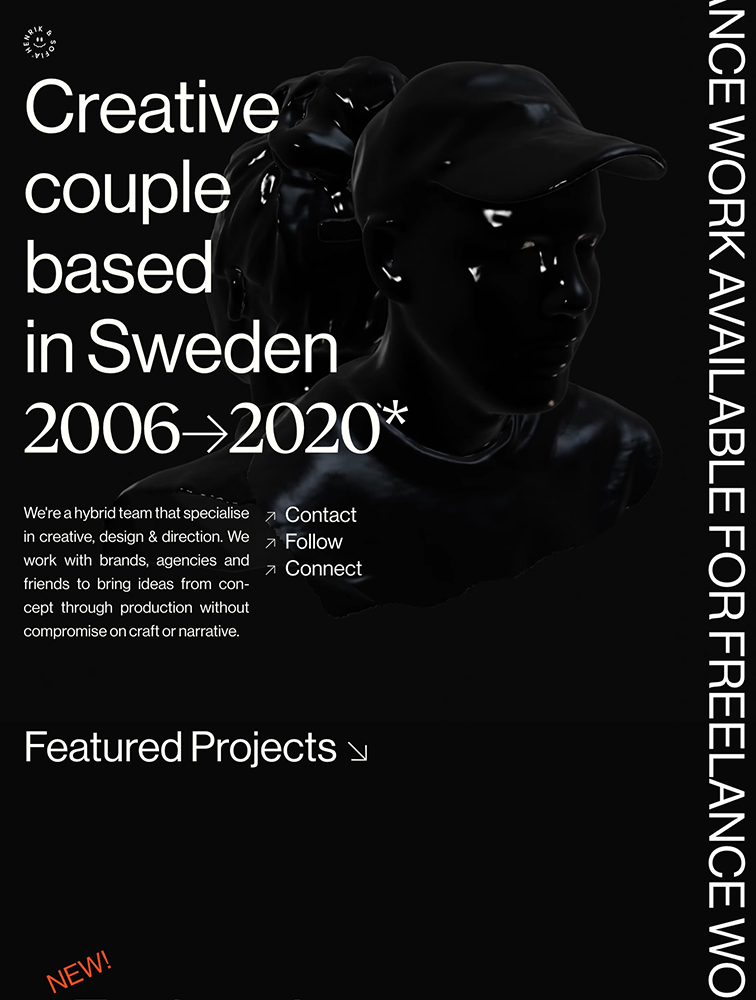 Henrik & Sofia Landing Page Example