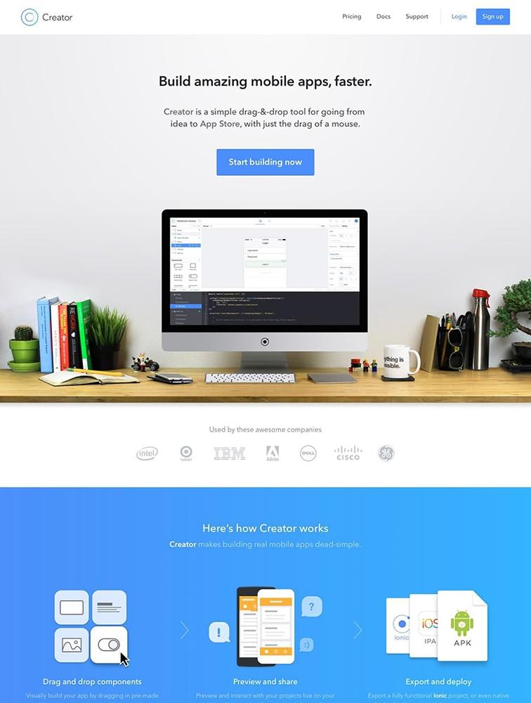 The Best 1 ionic Landing Page Design Inspiration - Lapa Ninja