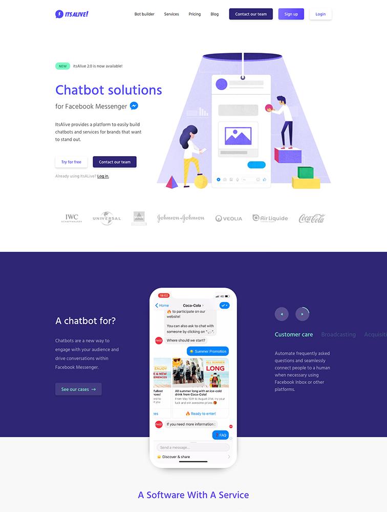 The Best 15 Bot Landing Page Design Inspiration - Lapa Ninja