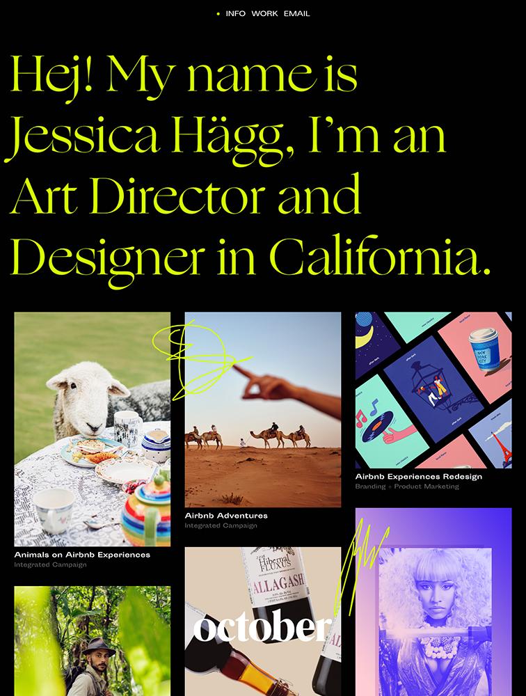 Jessica Hägg Landing Page Example