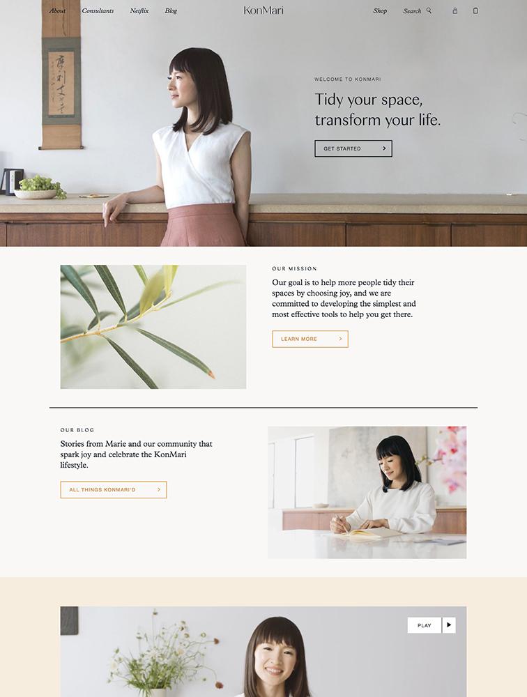 KonMari Landing Page Example