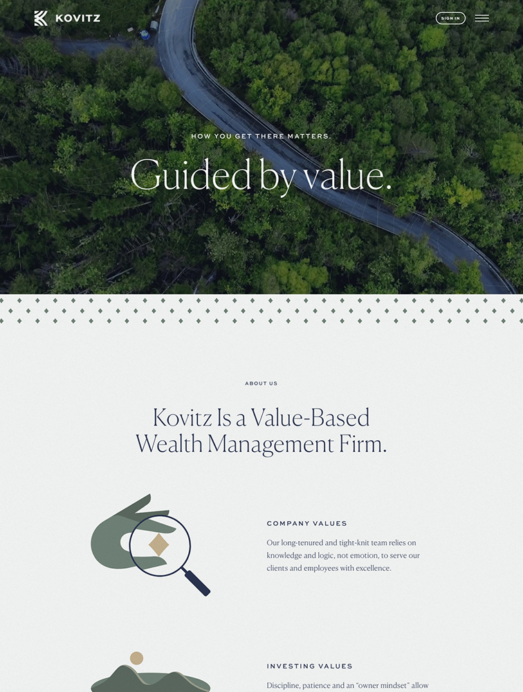 Kovitz Landing Page Example