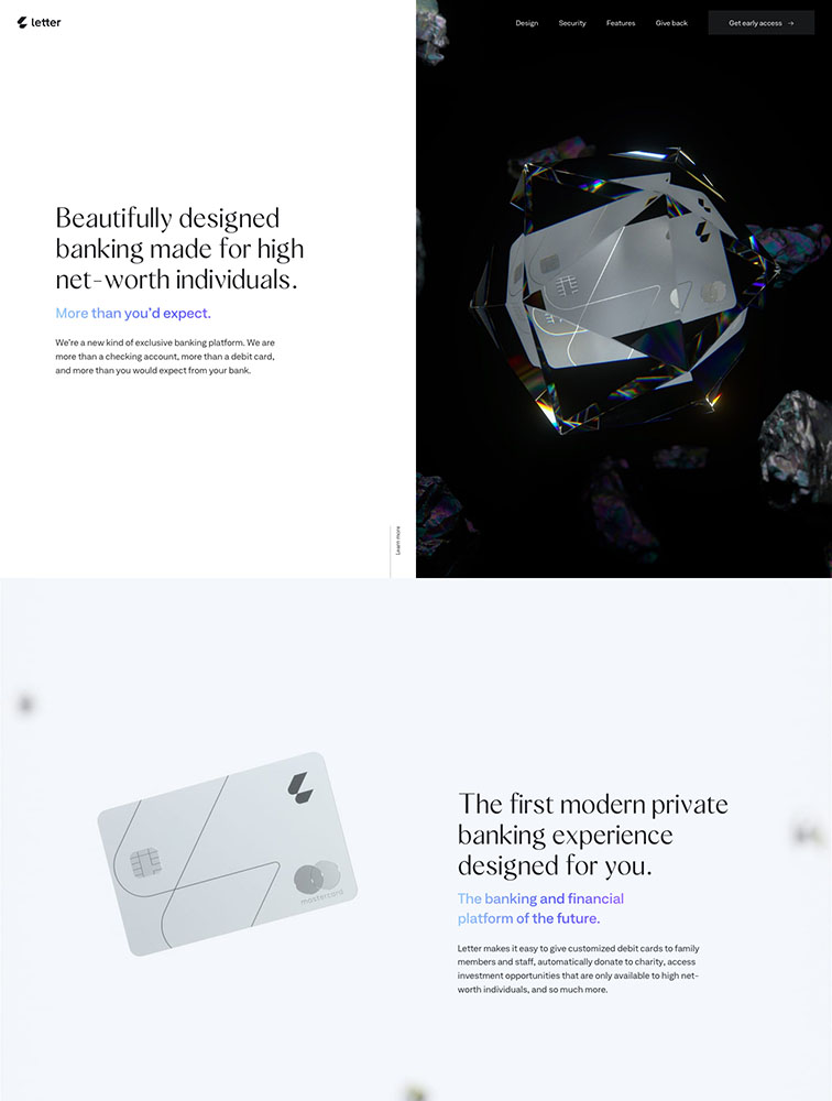 Letter Landing Page Example