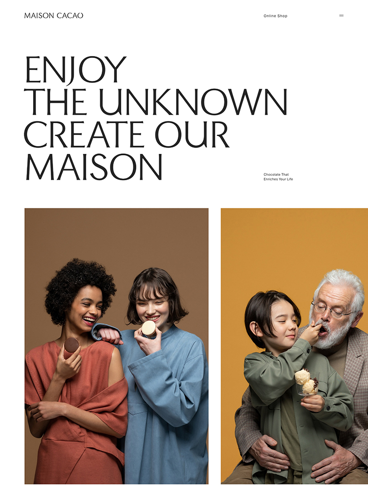 MAISON CACAO Landing Page Example