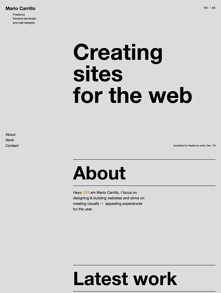 Mario Carrillo Landing Page Example