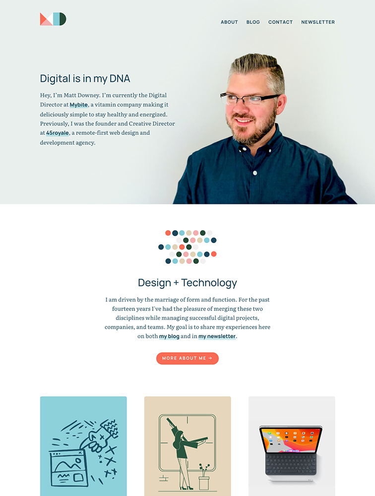Matt Downey Landing Page Example