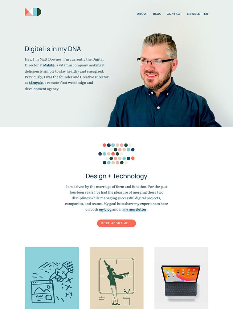 Matt Downey Landing Page Example