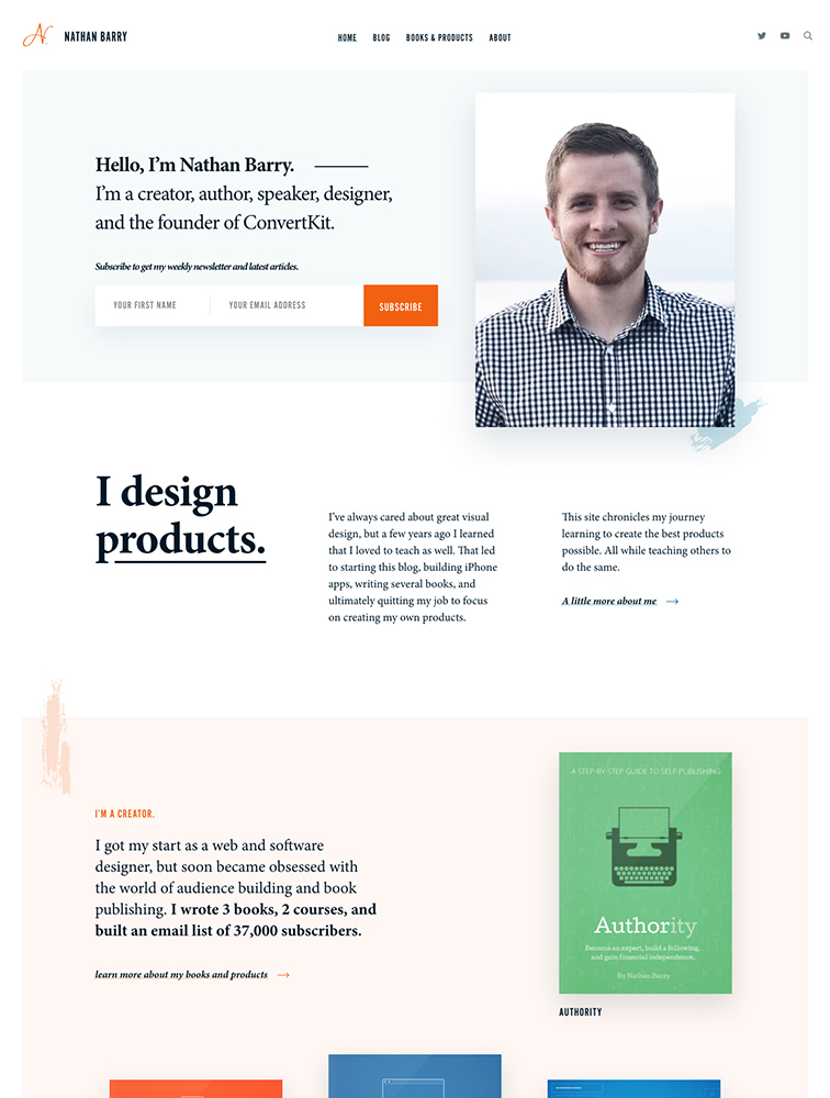 Nathan Barry Landing Page Example