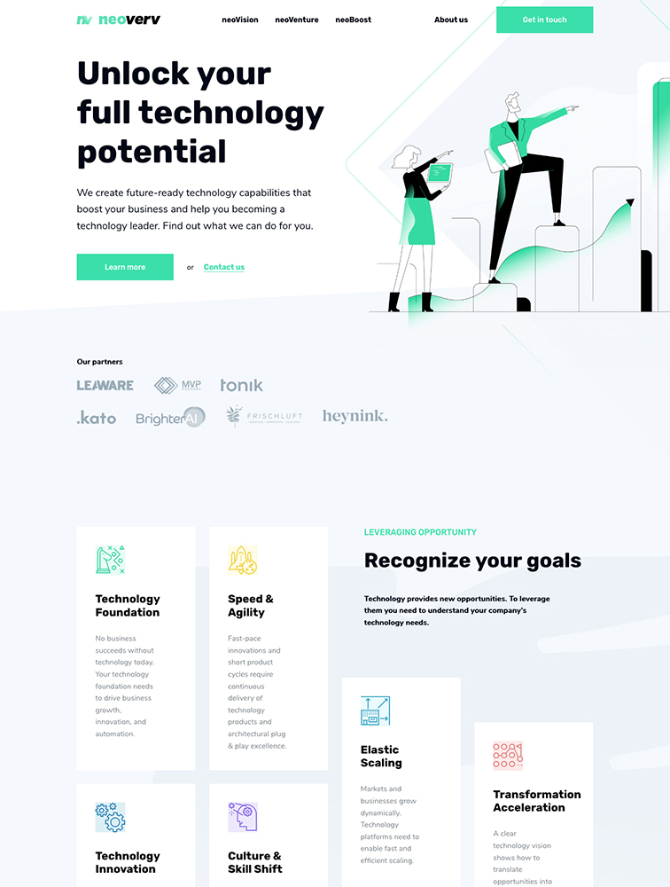 Neoverv Landing Page Example