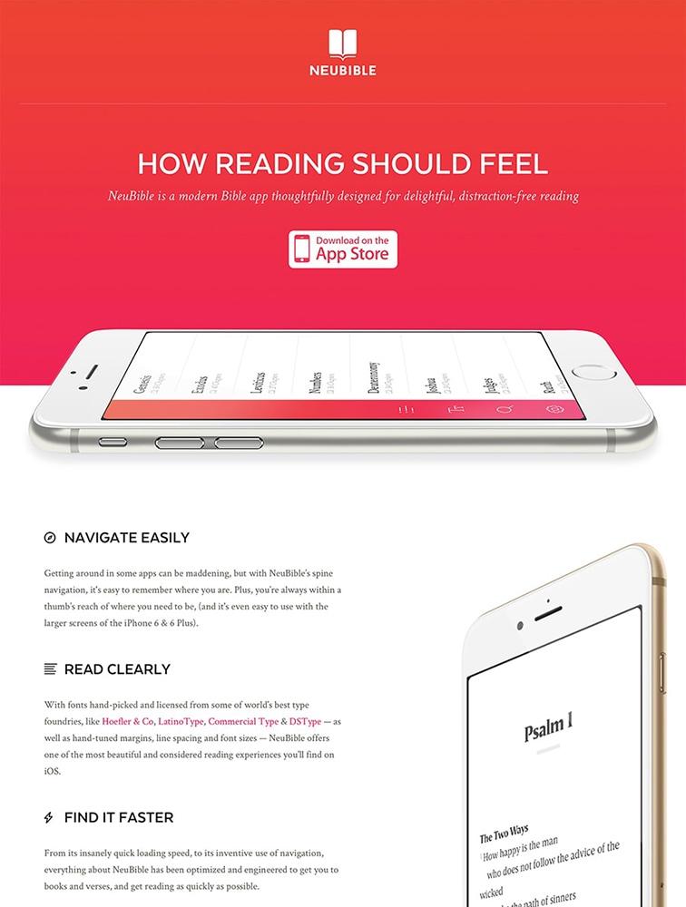NeuBible landing page design inspiration - Lapa Ninja