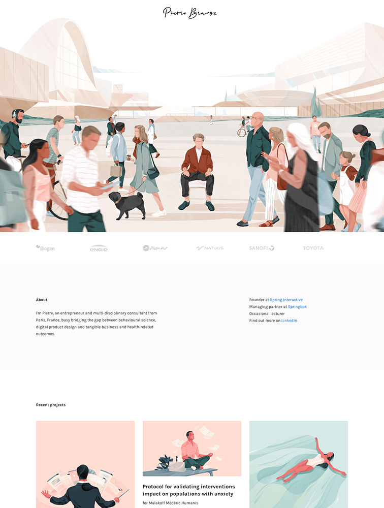 Pierre Bravoz Landing Page Example