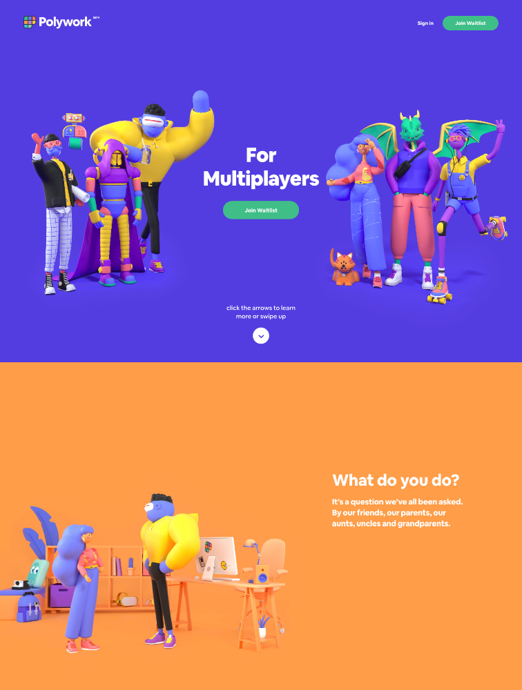Polywork Landing Page Example