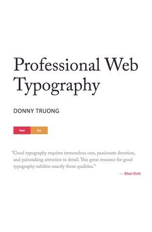 Download free ebook Professional Web Typography - Lapa Ninja