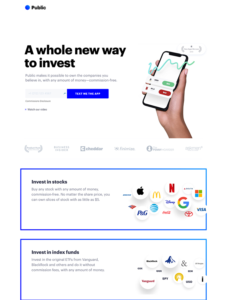 Public Landing Page Example