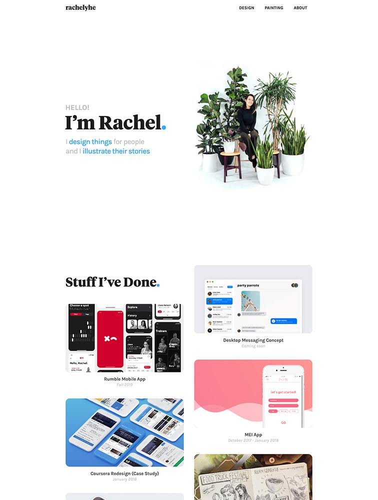 Rachel He Landing Page Example