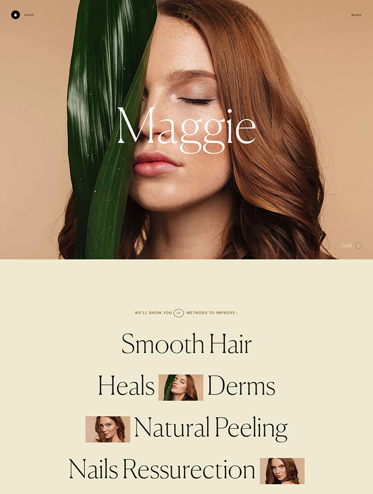 Maggie Rose Landing Page Example