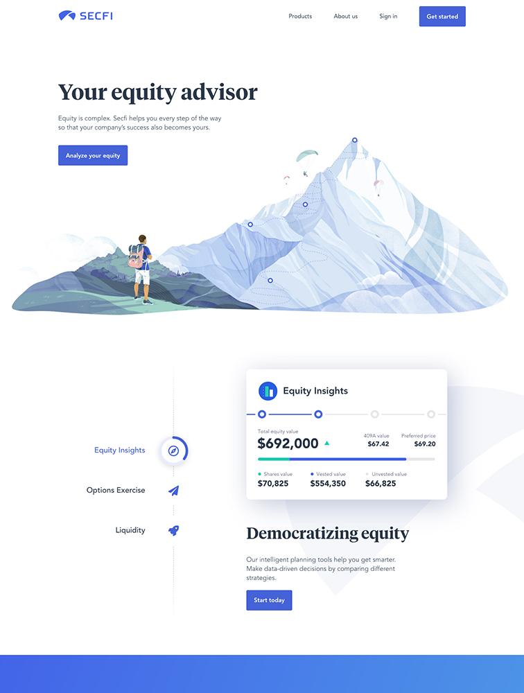 Secfi Landing Page Example