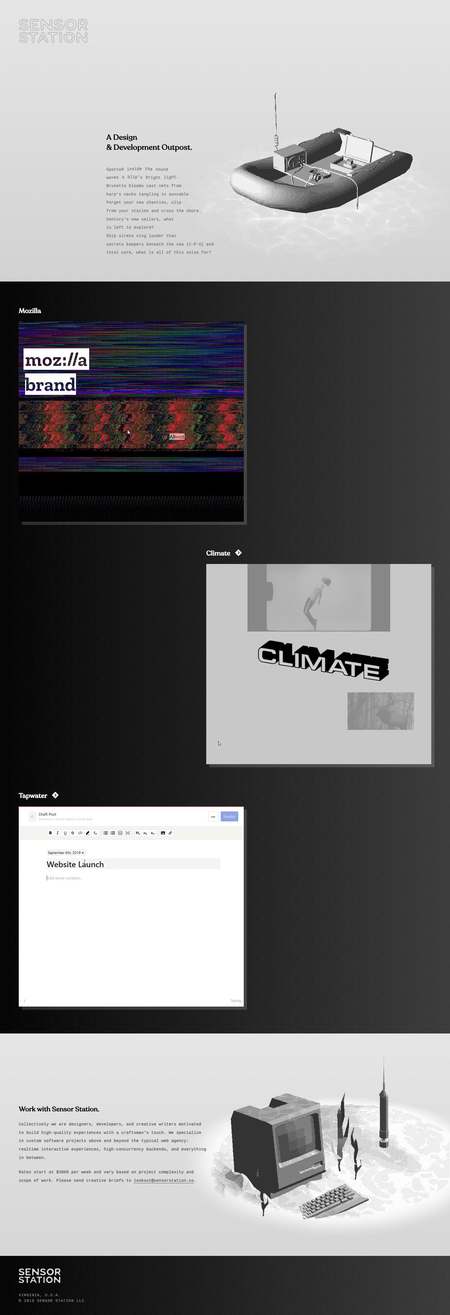 Sensor Station landing page design inspiration - Lapa Ninja