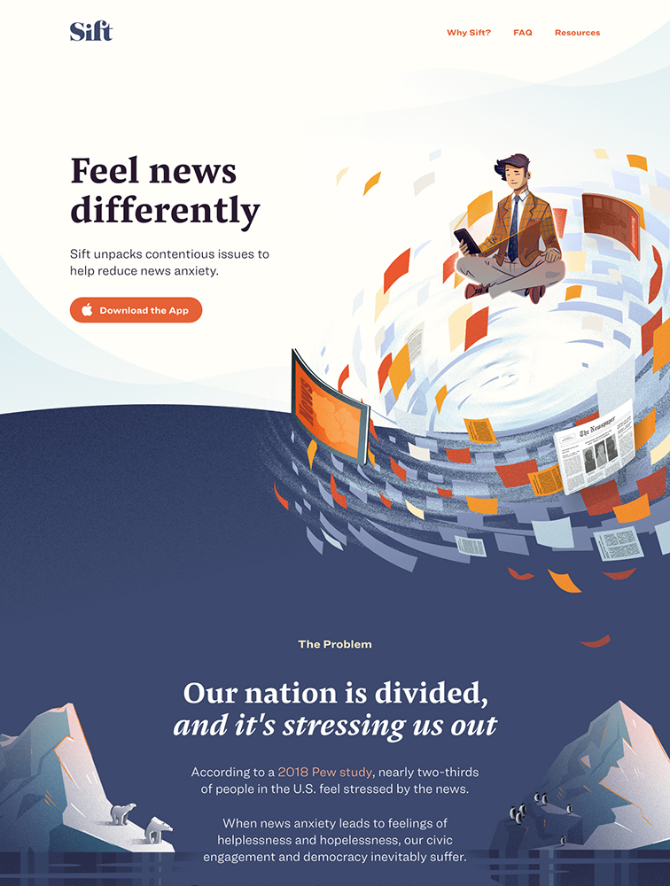 Sift Landing Page Example