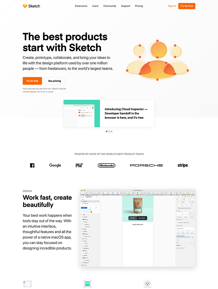 Sketch Landing Page Example